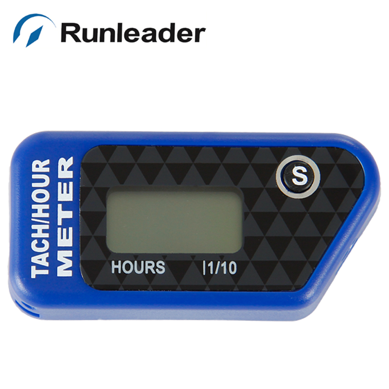 Runleader RL-HM016B Vibration hour meter with wireless for all gasoline engine ATV UTV dirtbike motobike motocycle outboards snowmobile pitbike PWC marine boat waterproof red