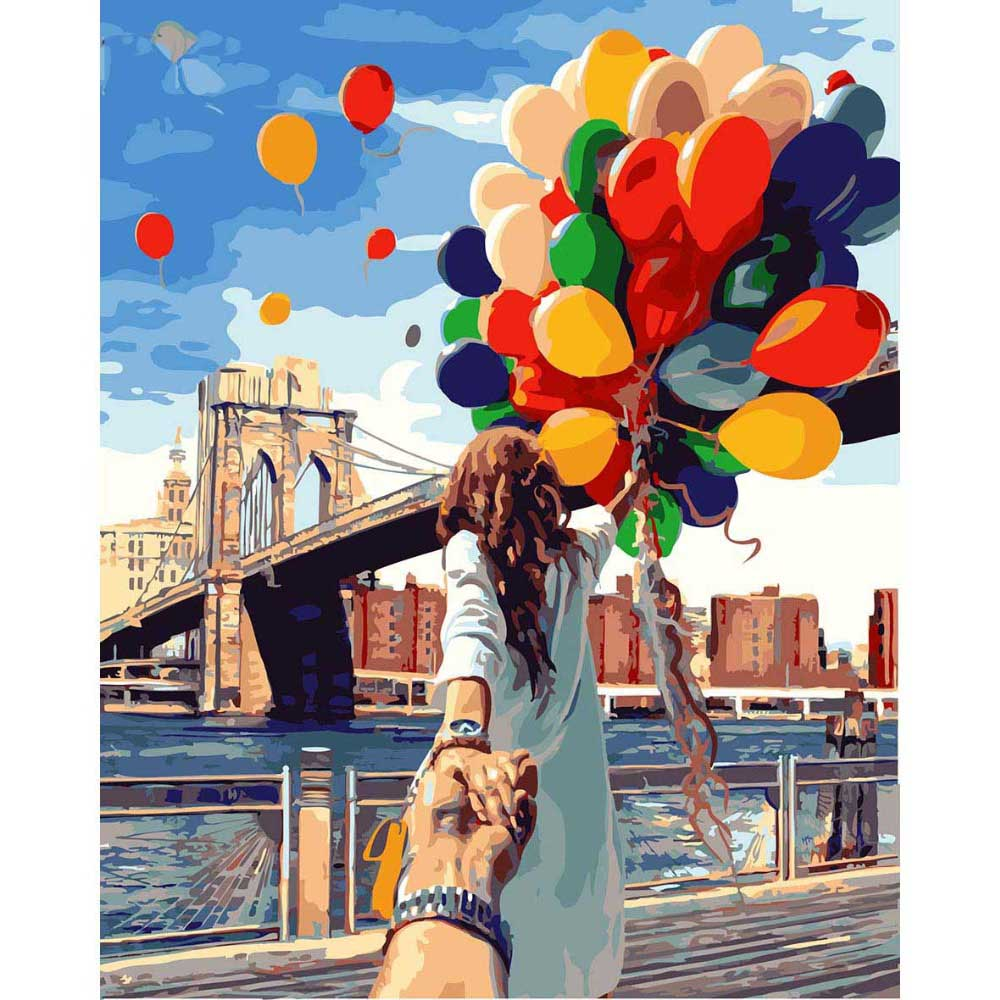 40*50cm romantic photo DIY painting by numbers on the wall with frame Diy Oil coloring by numbers canvas painting