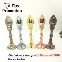 Coated Vintage Peacock Metal Wax Seal Stamp Customized With Logo Stainless 5 Colors League DIY Gift