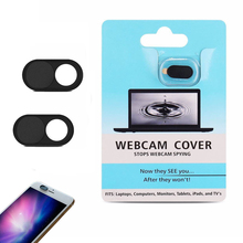 Webcam Cowl for iPhone Android  Smartphones-Black coloration /2-pack, with blister card packing