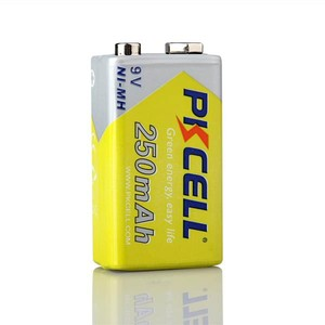 Image 2 - 2 قطعة * PKCELL 9 فولت بطارية ni mh 250mAh NIMH 6F22 9 فولت بطاريات قابلة للشحن Baterias ل ترمومتر إلكتروني الميكروفونات اللاسلكية