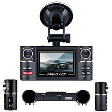 On sale F30 Car DVR 2.7″ TFT LCD HD 1080P Dual Camera Rotated lens Vehicle Driving Digital Video Recorder Night Vision Camcorder