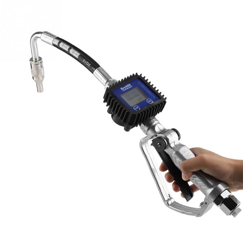Digital Fuel Oil Lubricant Nozzle Gun Pneumatic oil refueling gunFueling Nozzle Flow Meter Oil Nozzle with Flow Meter New brass nozzle oil pot with transparent body
