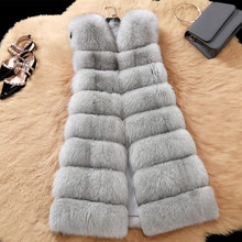 LONG PLUS SIZE autumn and winter full genuine leather real fox fur vest female natural fox fur coat waistcoat female fur garment