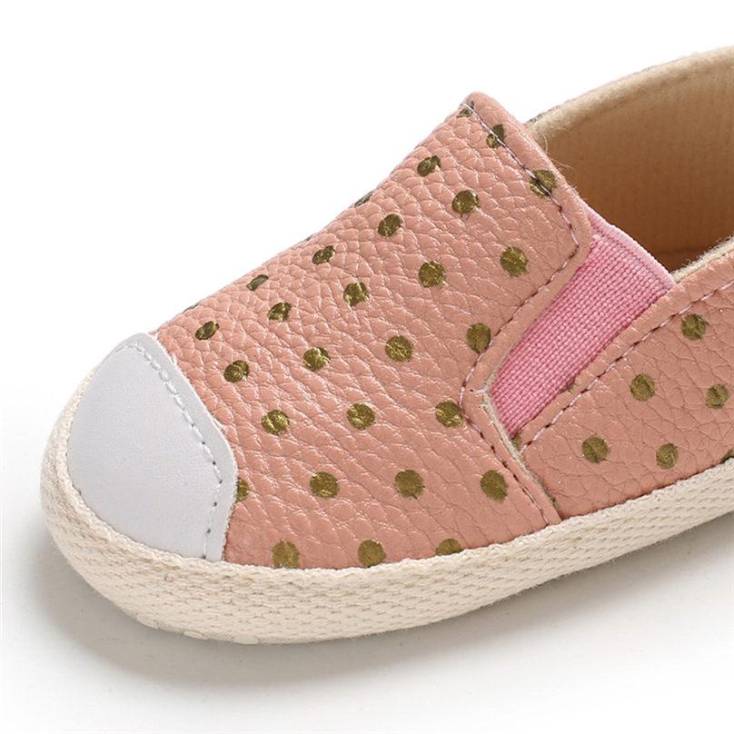 Polwer Newborn Baby Cute Girls Canvas Flower Single First Walker Soft Sole Shoes