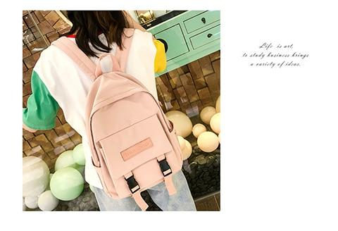 HTB13guUXEz1gK0jSZLeq6z9kVXaQ 2019 Backpack Women Backpack Fashion Women Shoulder Bag solid color School Bag For Teenage Girl Children Backpacks Travel Bag