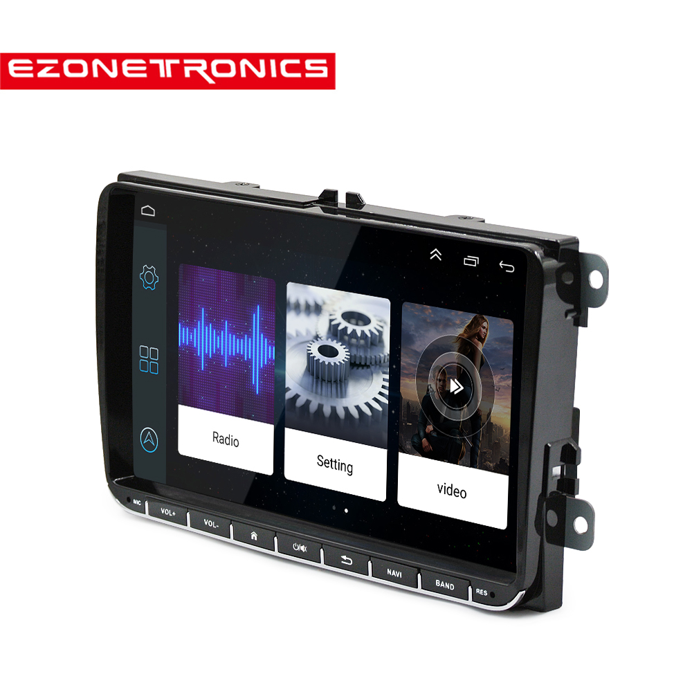 Android 6.0 2din GPS auto Navigatie Bluetooth Pour VW Golf5 6 Polo Jetta Passat Tiguan WiFi Multimédia 9 pouces auto radio Speler