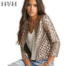 Hyh haoyihui outwears vogue ромб четверти блестки золотые три рукав куртки