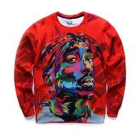 New Biggie Smalls 2PAC Tupac Crewneck Sweatshirt Men Hip Hop Fashion Hoodies For Men Women 3D