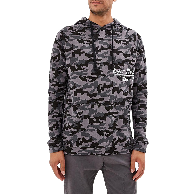 Hoodies & Sweatshirts MODIS M182M00040 hooded jumper sweater for male for man TmallFS thermal camouflage cool zip up hoodies for men