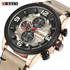 CURREN Chronograph Sport Man Watch Men S Watches 8288 Luxury Brand Leather Quartz Male Wristwatch Men