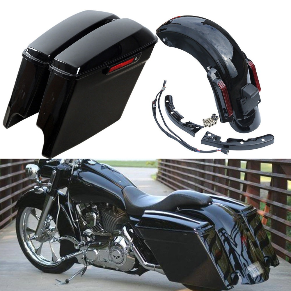 Bright New Saddlebags Guard Brackets Set For Harley Electra Glide Road King Flh Flht Bags & Luggage