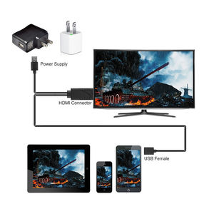 Image 5 - USB Nữ Để HDMI Nam HDTV Cáp Cho 7/7Plus/6/6S 6 Plus