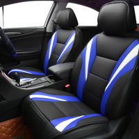 Car pass Summer Luxury Two Color Seat Cover universal car seat covers Red Blue Whole Car Seat cushion Car Accessories