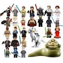 Фигурки из Звездных Войн Leia Luke Jabba queen Padme Amidala C3Po Starwars Yoda Han Solo строительные блоки кирпичная игрушка