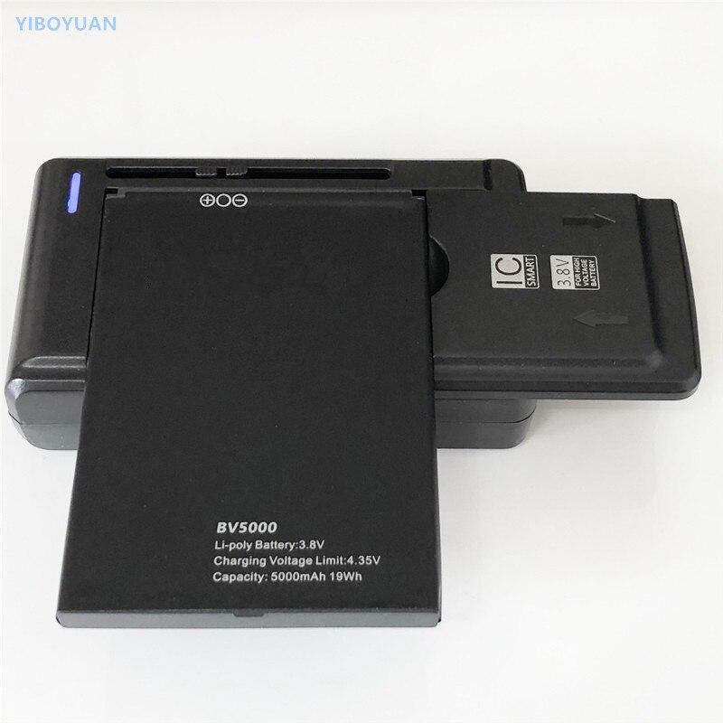 3.8V 5000mAh For Blackview BV5000 Battery + SS-C1 Charger