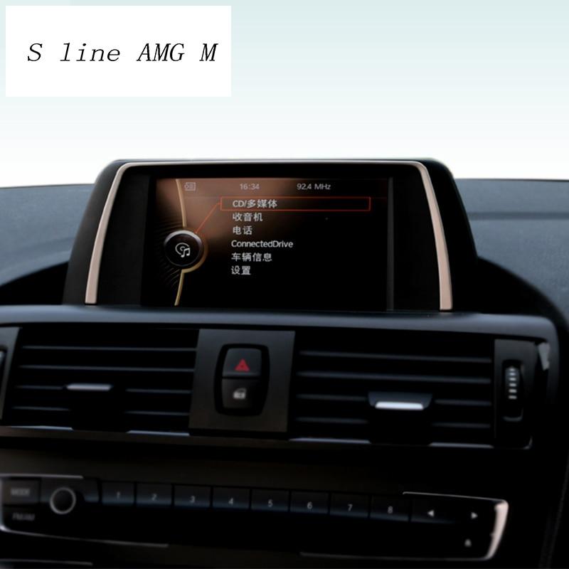 Cubierta decorativa de marco de navegación para BMW, pegatina de estilismo para Interior de coche, serie 1, 116i, 118i, accesorios para automóviles, F20, F21