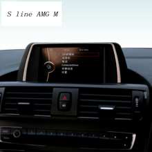 Для BMW F20 F21 навигации декоративная рамка прокладка крышки Внутренняя отделка стайлинга автомобилей Стикеры 1 серии 116i 118i авто аксессуары
