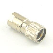 Níquel Banhado A FME Macho para Mini UHF Macho Adaptador Coax RF Conector Em Linha Reta