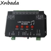 M 8000 программируемый 8096 Piexl светодиодный музыкальный контроллер для WS2812B WS2812 SK6812 светодиодные полосы света ленты вход DC5V