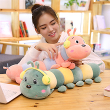 Cute Insect Plush Toy Cartoon Animal Stuffed Dolls Plush Caterpillar Toys Soft Kid Plush Pillow Baby Sleeping Cushion Girl Gift 1pc 45 40cm simple pikachu pillow cushion plush toy dolls decorative pillows cartoon plush toys