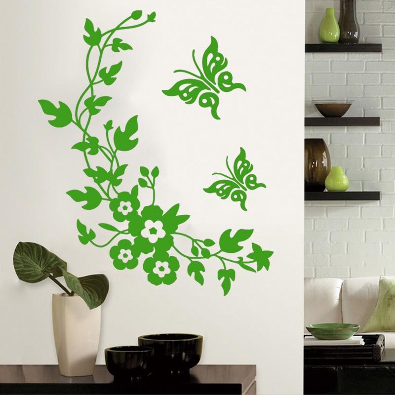 Flower Stickers For Walls Part   19: Aliexpress.com : Buy Butterfly Flower  Toilet