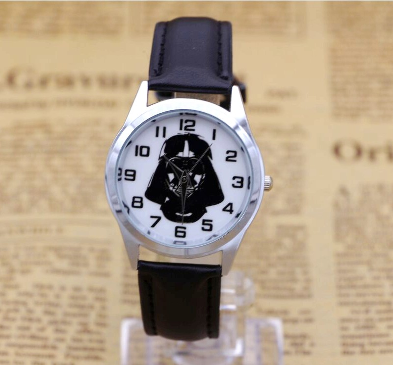 Men Women Children Pretty Star Wars Cartoon Lovely Watch Best Fashion Casual Simple Quartz Square Leather Watches