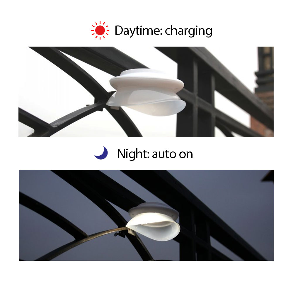 [DBF]4pack Solar Powered Wireless Waterproof Security Wall Light 9 LED Light Solar Lamp for Patio Deck Yard Garden Path Driveway