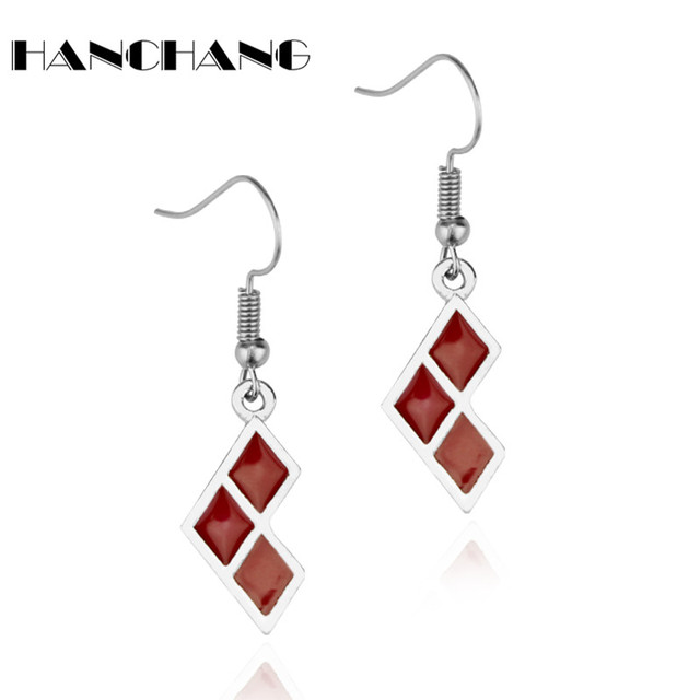 Squad Harley Quinn Earrings Stainless Steel Drop For Women Funny Earring