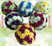 60cm ball flower high compact Artificial Silk Rose flower ball wedding party ornament christmas house decoration 4pcs/lot