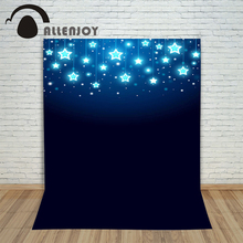 Pictures – background for photos Christmas stars at night blue children's photographic camera backdrop vinyl