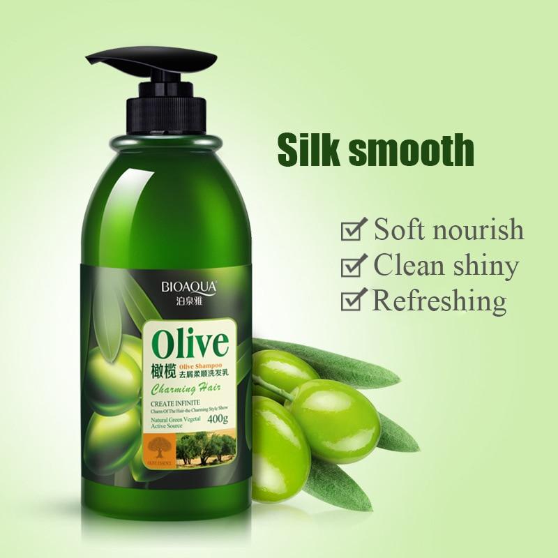 Professional Olive Anti-Dandruff Hair Shampoo Soft Refreshing Oil Control Improve Itchy Scalp Treatment Hair Care 400ML