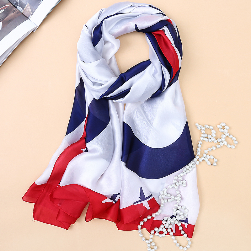 2017 luxury brand summer women scarf fashion quality soft silk scarves female shawls Foulard Beach cover-ups wraps silk bandana
