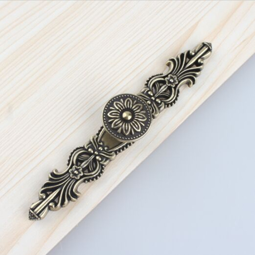 Dresser Knob Drawer Knobs Pulls Handles Antique Bronze Kitchen Cabinet Door Handle Pull Decorative Knob Hardware Back Plate Pull 5 drawer knobs pull handles dresser knob pulls handles antique black silver furniture hardware kitchen cabinet door handle pull