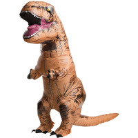 Adult T Rex Inflatable Costume Jurassic World Park Dinosaur Costume Amazing Dragon Blowup Outfit Halloween Fancy