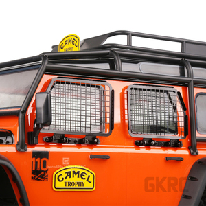 Image 4 - 4 قطعة معدنية طوي نافذة السيارة واقية صافي ل 1/10 Rc الزاحف سيارة المدافع Traxxas Trx4 حارس النافذة شبكة الحرس