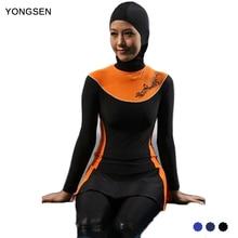 YONGSEN Push Up Long Sleeve Plus Size Muslim Swimwear Modest Islamic Swim Wear Baiclothing Women Full Cover Swimsuit Burkinis