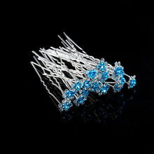 20 Pcs/lot Bridal Wedding Engagement Crystal Diamante Rose Flower Hair Pin Hair Clip Accessory Jewelry Bridal Headwear Wedding J(China)