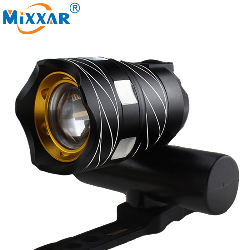 16000LM 3000 mAh LED USB recargable al aire libre zoomable XML T6 Luces de bicicleta lámpara delantera de la lámpara antorcha linterna batería incorporada