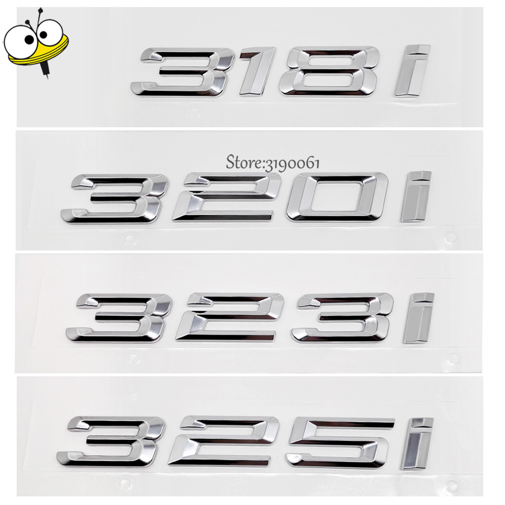 For BMW DIY Sticker Metal Car-styling Number Auto Car Sticker Decal Badge Emblem For BMW 3 Series 318i 320i 323i 325i 318 320 GT fr metal car stickers emblem badge for seat leon fr cupra ibiza altea exeo formula racing car accessories car styling