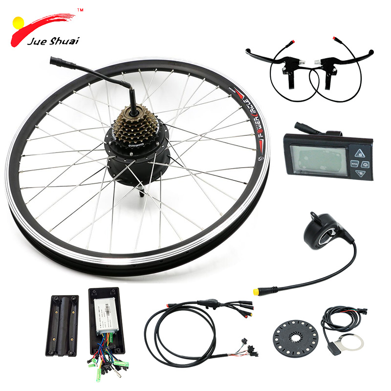 Jueshuai E Bike 36V 48V Motor Bicicleta Electric Bicycle Bike Conversion Kit 250W 350W 500W for