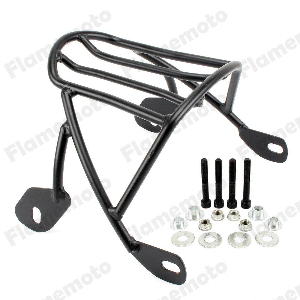 Black Solo Seat Bagage Achterspatbord Rack Voor Harley Sportster Xl1200 Xl883 2004 2005 2006 2007-2016 100% Garantie