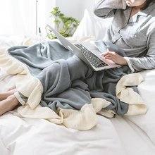 chunky knit blanket for bed sofa cotton soft aircondition throw blankets adult summer Bedspread solid quilt