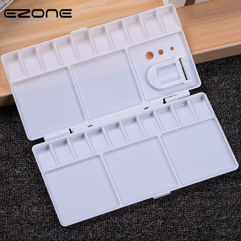 EZONE 25 Grids Palette Large Art Paint Tray Artist Oil Watercolor Plastic Palettes For Gouache Acrylic Painting Drawing Supply