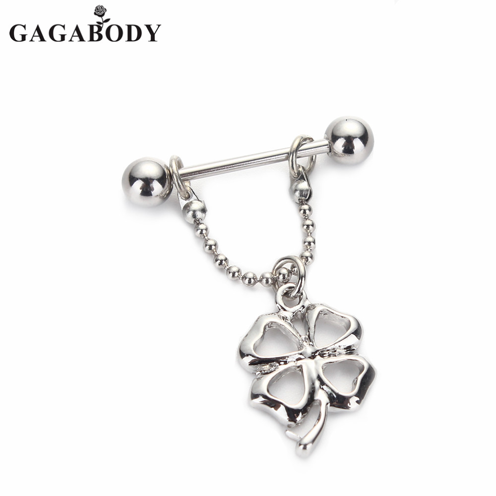 dfae377cd St. Patrick Day 1 Pair Clover 14G Silver Color Gemmed 316L Surgical Steel  Nipple Shields-in Body Jewelry from Jewelry & Accessories on Aliexpress.com  ...