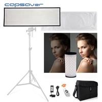 capsaver FL1x3A LED Video Light photographic lighting Bi color 3200K 5500K 576 LEDs Flexible LED Panel Studio Lamp for YouTube