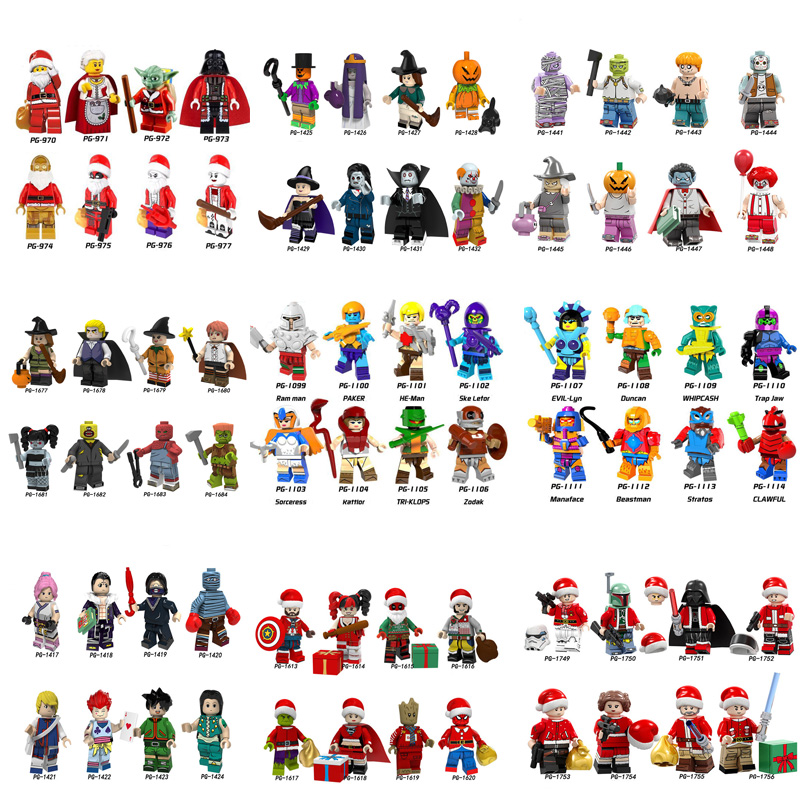 3000 Random Legoer Bricks Original Anime Super Hero Life Big Explosion Immediately Style Blind Box Give Child Toy