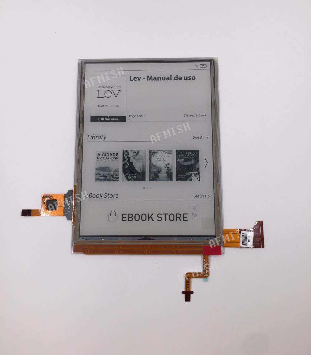 100% new ED060XH7 6″ eink carta 2 LCD Display screen with backlight and touch for PocketBook touch Lux 3 PB626(2)-D-WW