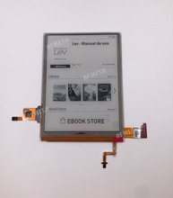 """100% new ED060XH7 6"""" eink carta 2 LCD Display screen with backlight and touch for PocketBook touch Lux 3 PB626(2) D WW"""