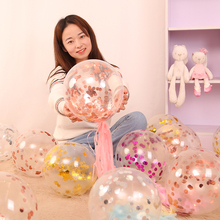 50 Pieces of Rose Gold Balloons Confetti Sequins Flamingo Party Decoration Birthday Princess Supplies